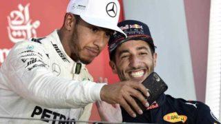 Lewis Hamilton and Daniel Ricciardo