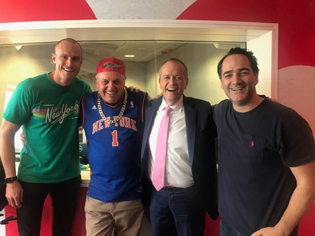 Bill Shorten rap battle Ray Hadley Fitzy & Wippa
