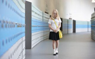 girl sad school