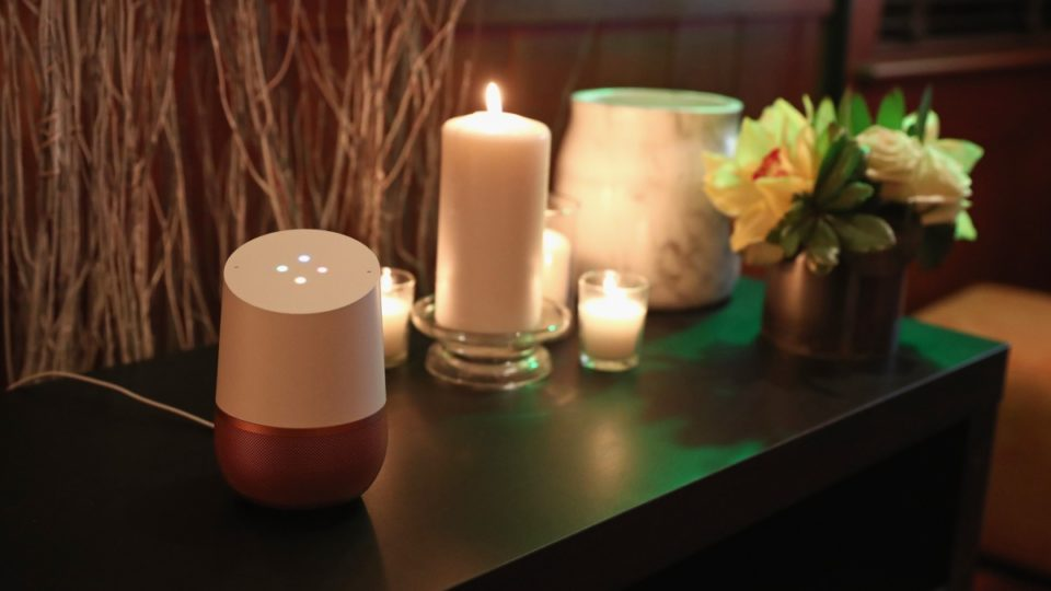 Google Home on display at Sundance 2017