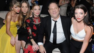 Recording artist Taylor Swift, musician Este Haim, actress Jaime King, producer Harvey Weinstein and recording artist Lorde attending The Weinstein Company & Netflix's 2015 Golden Globes After Party.