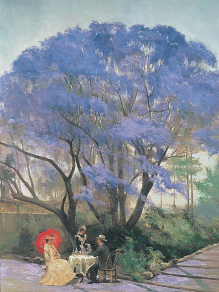 Under the Jacaranda was painted by R Godfrey Rivers in 1903.