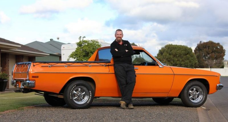 Holden worker Keith hamilton with his Kingswood ute