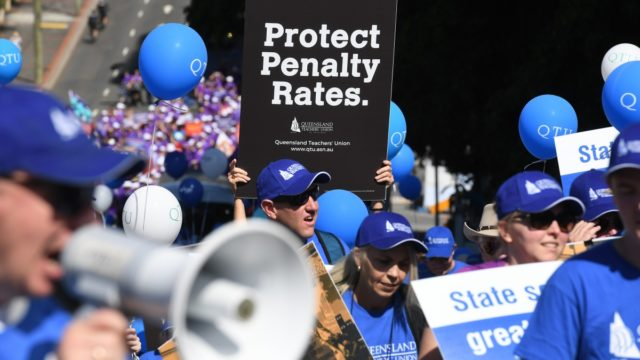 Demonstrations and workers' anger did nothing to foil the penalty rate reduction.