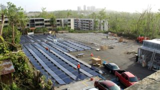 A Tesla manufactured power grid is installed adjacent to the children's hospital in Puerto Rico