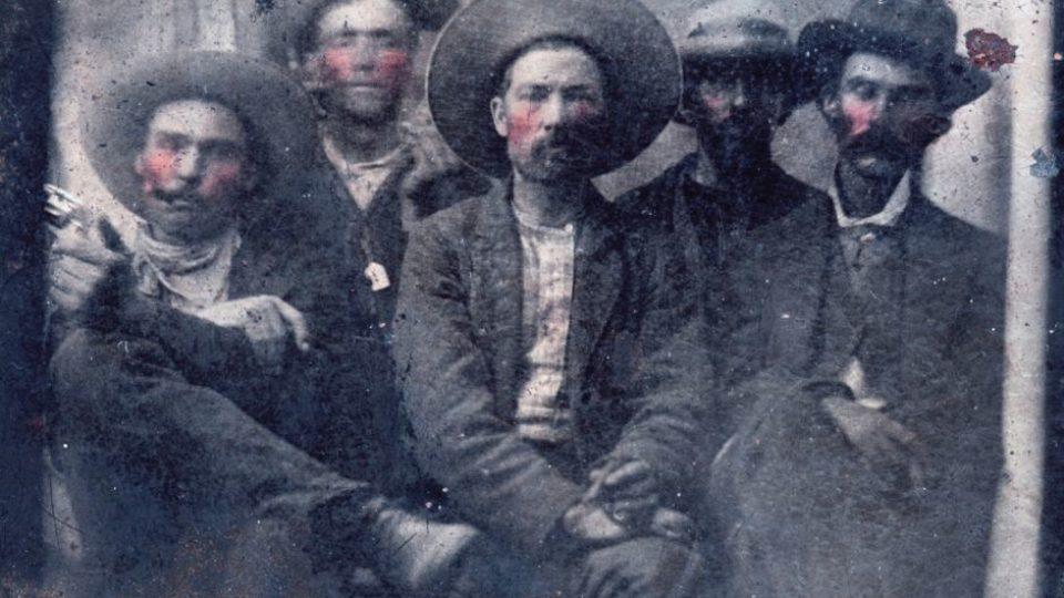 1880 image of Billy the Kid and Pat Garrett