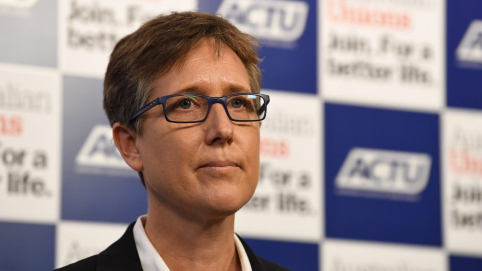 ACTU secretary Sally McManus has called for the minimum wage to be replaced with a 'living wage'.