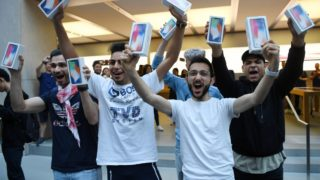 Consumers are going mental for the iPhone X.