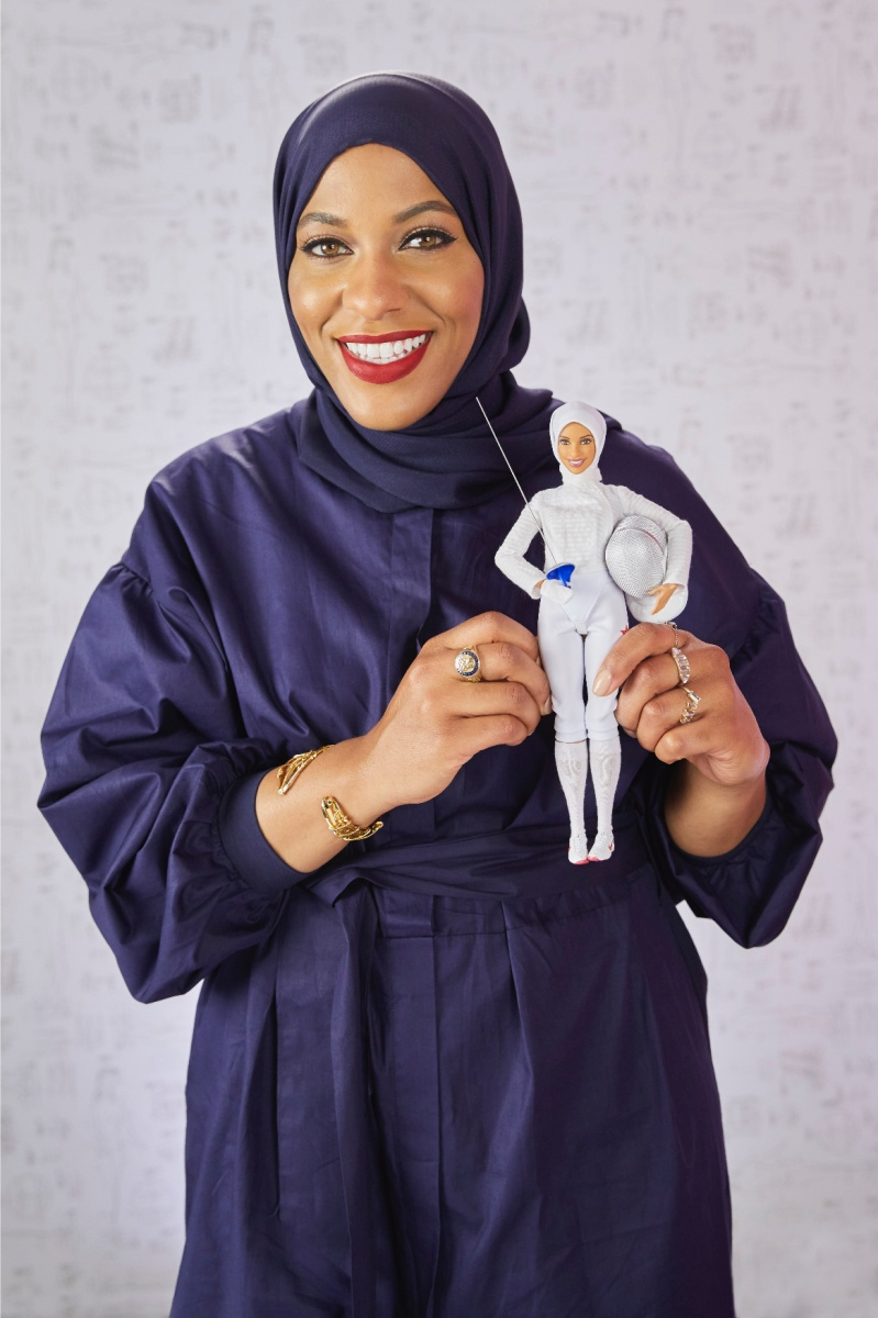 The Barbie was modelled on Ibtihaj Muhammad, who won a bronze medal in fencing at the 2016 Olympics.