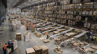 Amazon's fulfilment centre in Peterborough in the UK prepares for Black Friday.