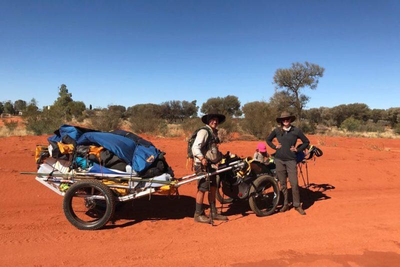 Toddler outback trek