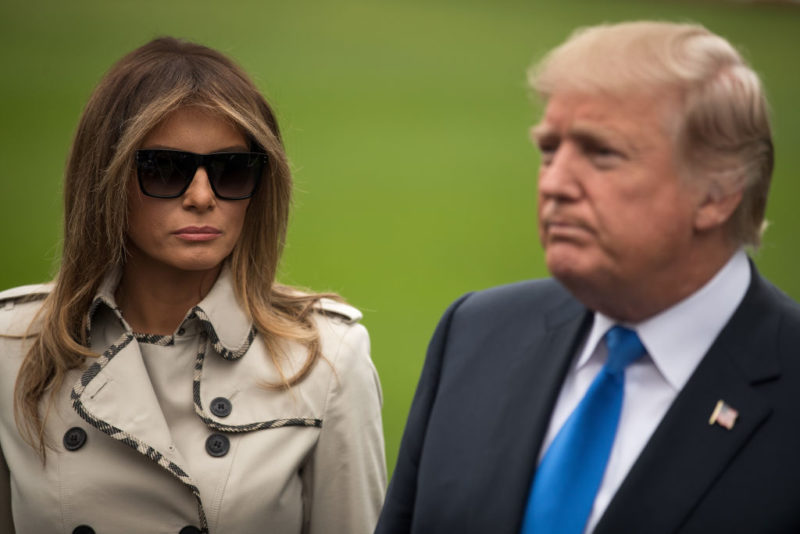 President Trump And First Lady Melania Depart The White House