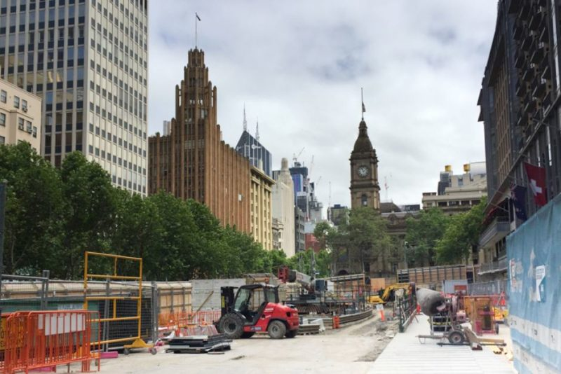 Metro Rail Tunnel construction in Melbourne