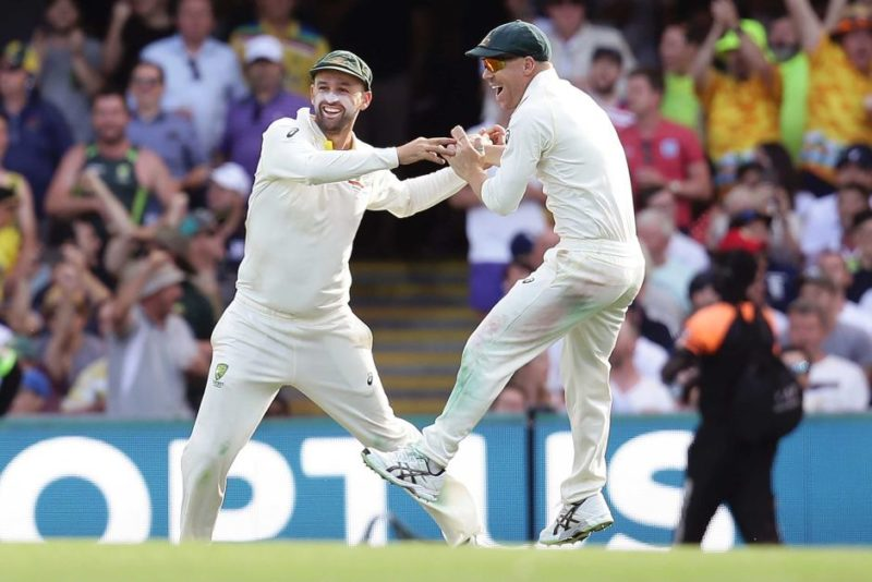 Nathan Lyon and David Warner