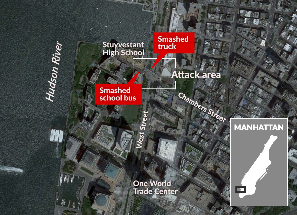 New York attack map