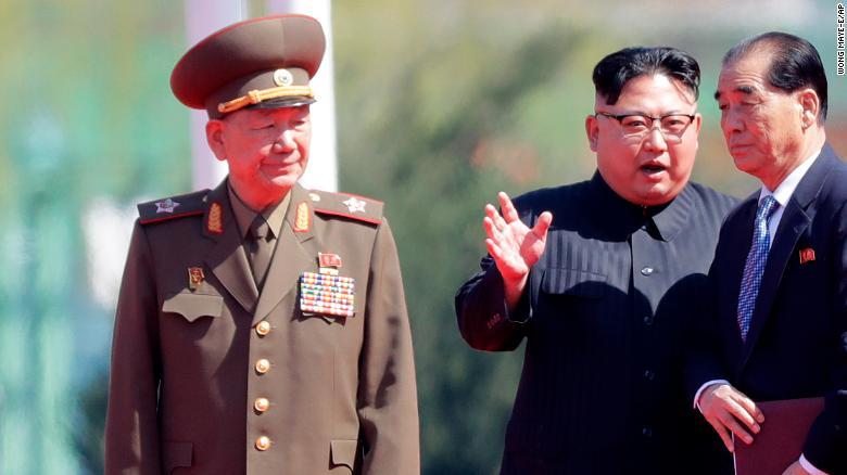North Korea Hwang Pyong-so and Kim Jong-un