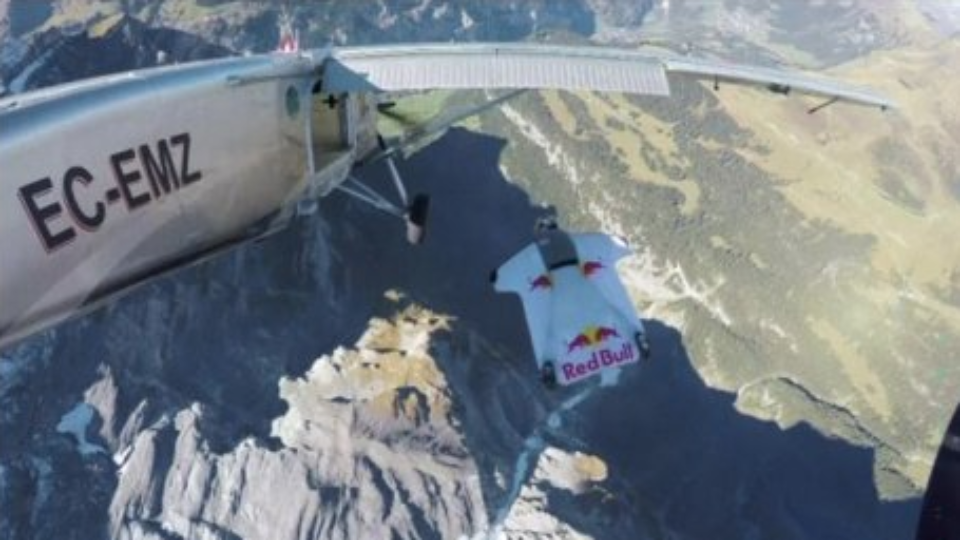 Wingsuit Fliers Jump From Mountain, Land In Plane In Mid-Air