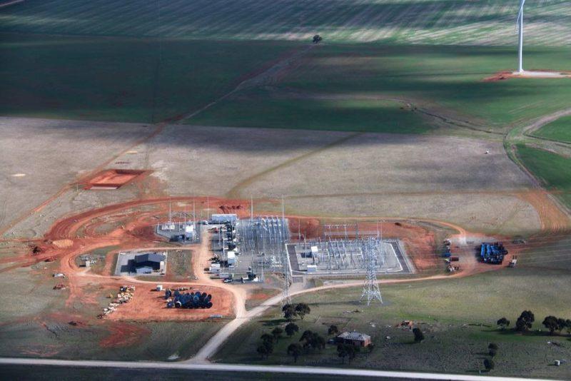 Tesla battery site near Jamestown