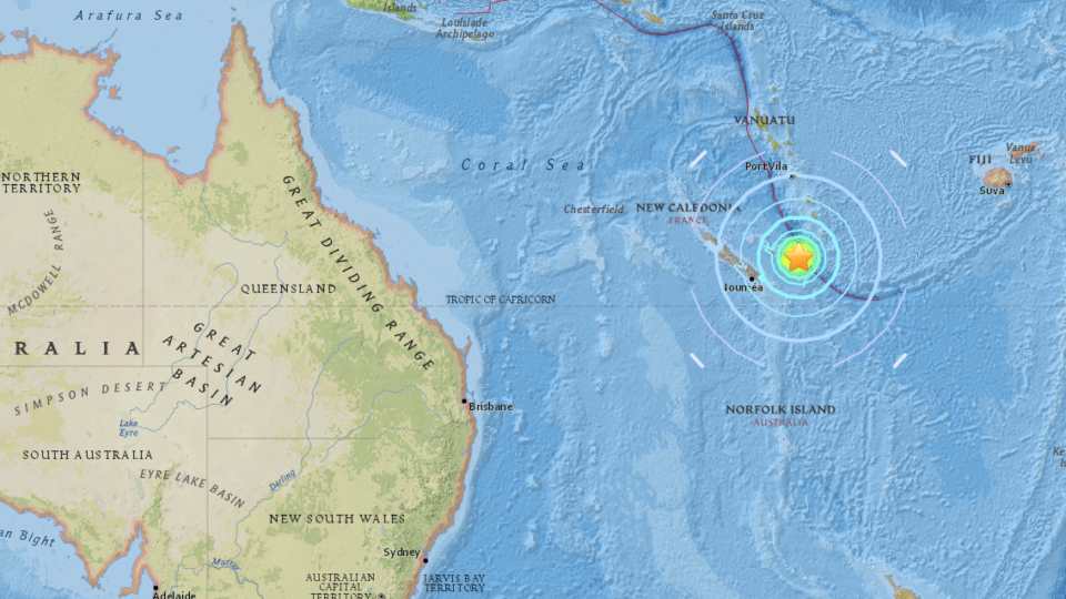 7.3-magnitude natural disaster hits New Caledonia: USGS