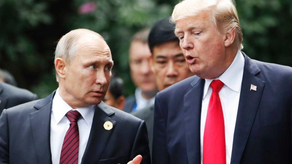 Donald Trump and Vladimir Putin Russia