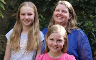 Perth mother Maggie Johns, with daughters Sarah, 11, and Becca, 8, says babysitting apps have made life easier.