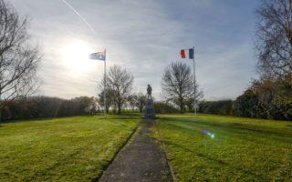 Bullecourt Battlefield, France, WWI World War I, wind farm