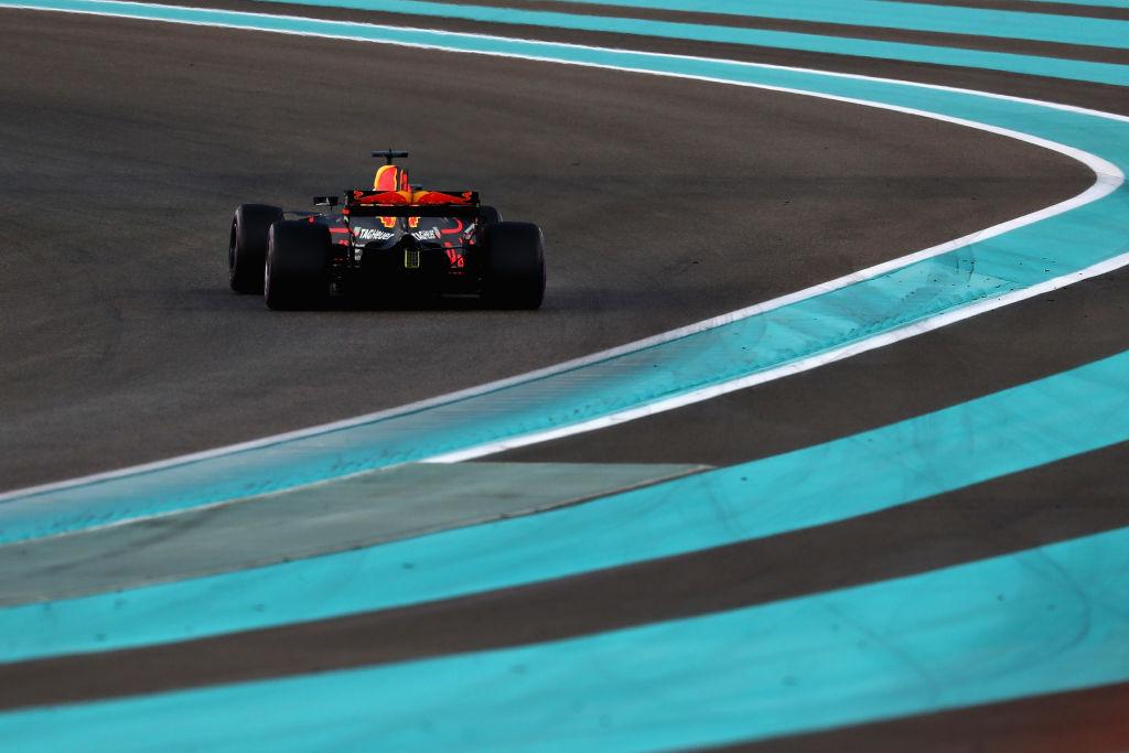 Daniel Ricciardo of Australia on track during the Abu Dhabi Formula One Grand Prix at Yas Marina Circuit on Sunday.