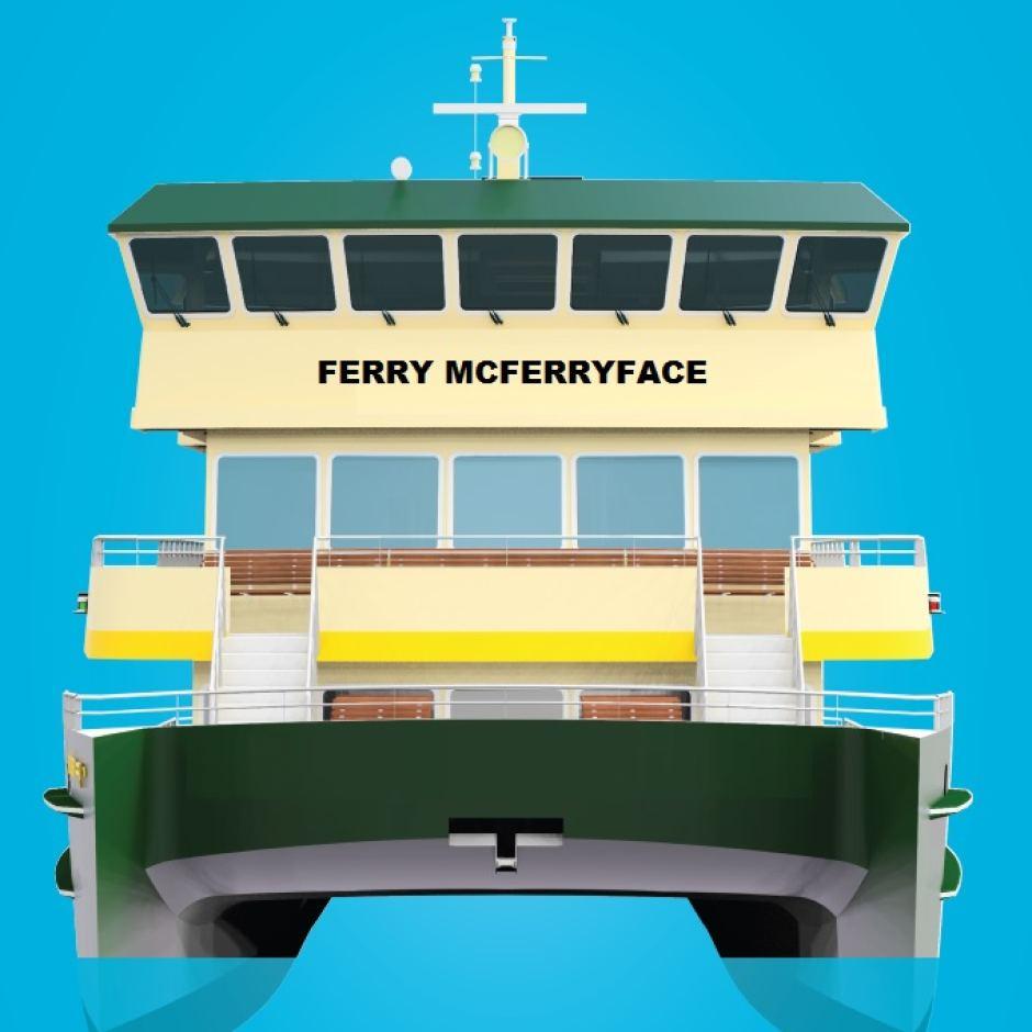 Ferry McFerryFace Sydney harbour
