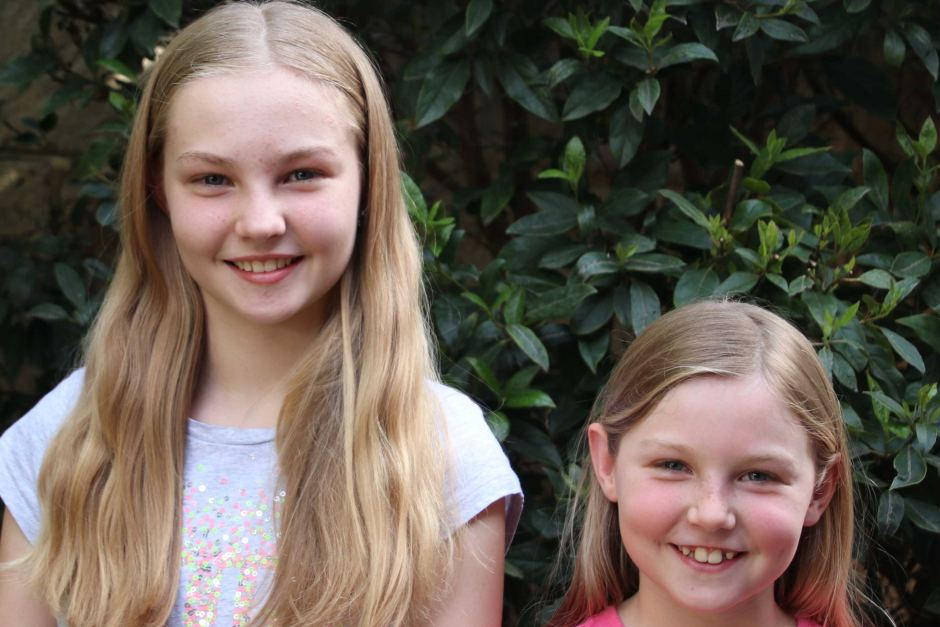 Sisters Sarah Johns, 11, and Becca Johns, 8, have had only positive experiences with sitters through the Gobi app.