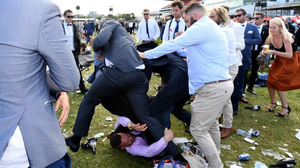 Melbourne Cup fight