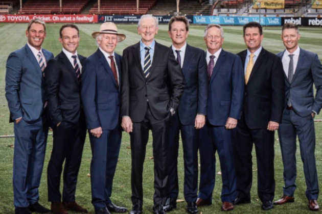 Nine's all male ashes commentary team