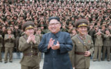 North Korea leader Kim Jong-Un is pictured in August with the Korean People's Army.