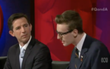 Education Minister Simon Birmingham was taken to task by student Geordie Brown on Q&A.