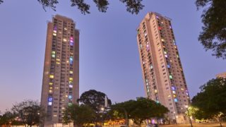 The Waterloo public housing blocks in inner-Sydney, where residents are facing eviction, is pictured. - Centrelink, housing affordability bill, social housing, welfare payments
