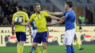 It was a fiery play-off in Milan, but Italy lost on aggregate to Sweden to miss out on the World Cup finals.