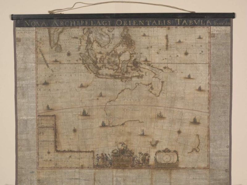 1663 Blaue map after treatment at the National Library of Australia