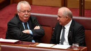 Nationals senators John Williams (right) and Barry O'Sullivan have campaigned for a banking royal