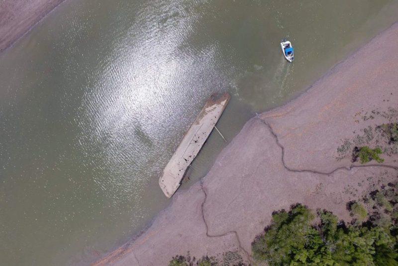 Abandoned trawler