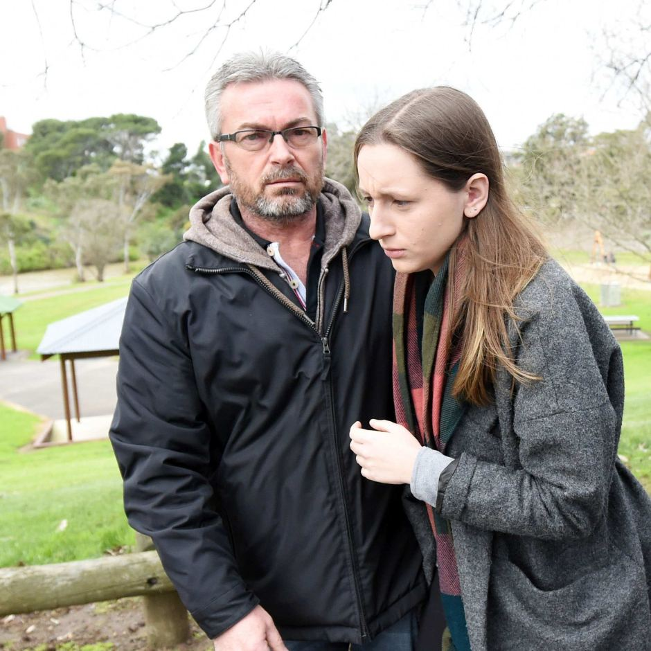 Borce Ristevski and his daughter Karen