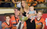 Cindy Klinger with family at Scorchers game