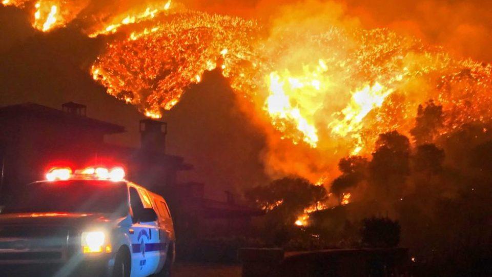 Fires burn in Santa Barbara County