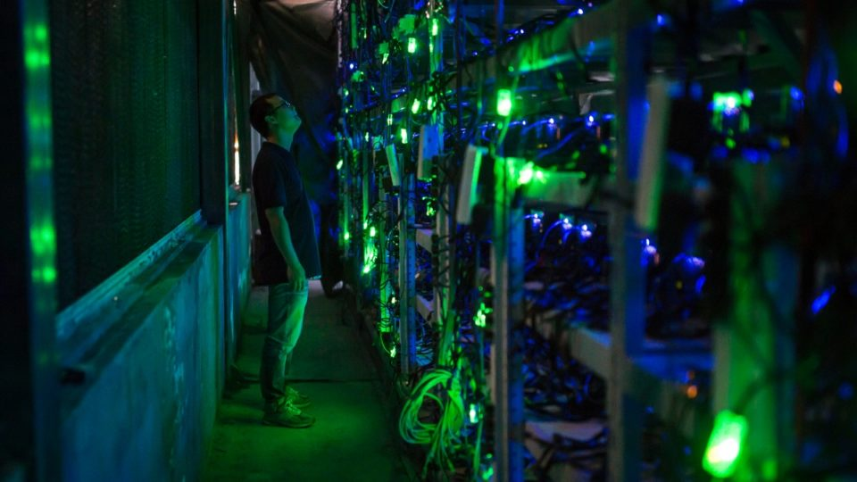 A bitcoin mining farm in Sichouan, China.