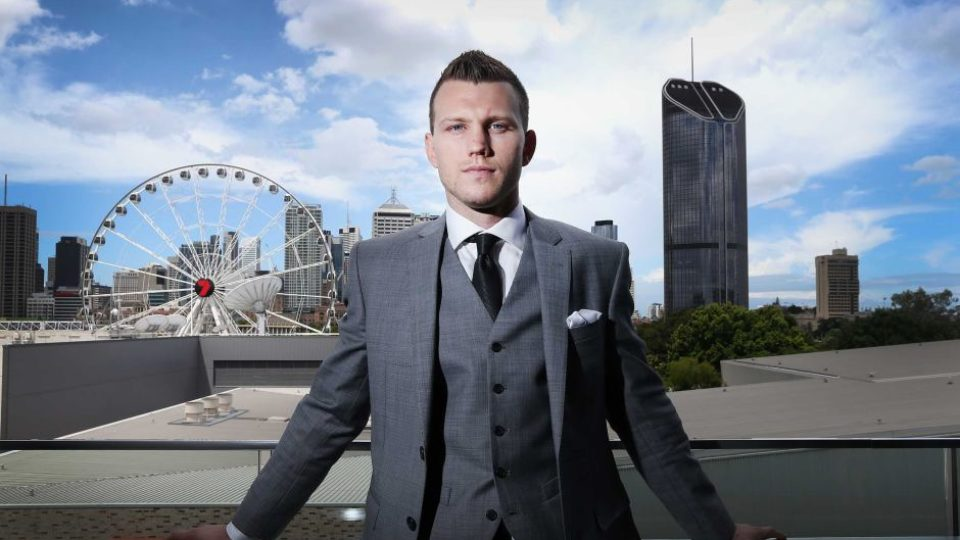 Jeff Horn poses in Brisbane