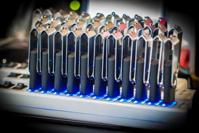 Multiple USB sticks for distributing to North Korea