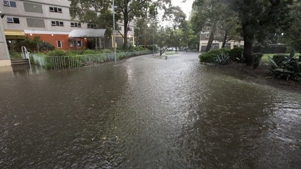 North Melbourne flash flood
