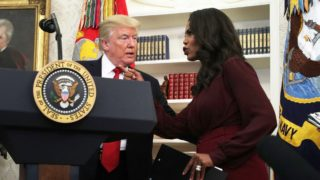 Omarosa Newman and Donald Trump