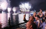People watch fireworks