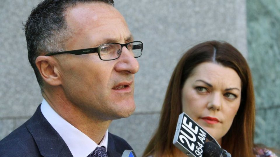 Richard Di Natale and Sarah Hanson-Young