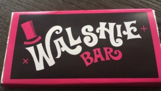 Walshie Bar chocolate invitation front