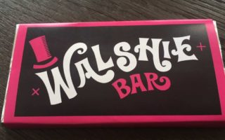 Walshie Bar chocolate invitation front